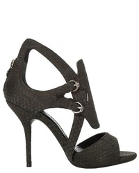 Max Studio Yearly Matte Snakeskin Sandals