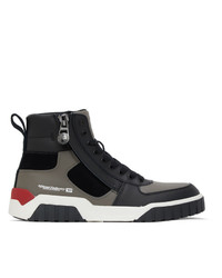 Diesel Black S Rua Sk High Sneakers
