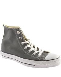 Converse chuck taylor all star hi leather 13217c charcoal sneakers medium 106633