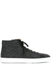 Santoni Contrast Detailing Hi Top Sneakers