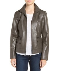 Wing collar leather jacket medium 5169934