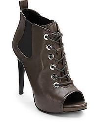 Nine West Elekra Lace Up Peep Toe Ankle Boots