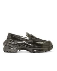 Maison Margiela Grey Ridged Sole Loafers