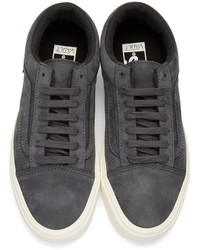 2246023754 ... Vans Grey Nubuck Old Skool Lite Lx Sneakers ...