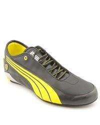 Puma Alekto Low Sf L Black Faux Leather Sneakers Shoes Uk 11