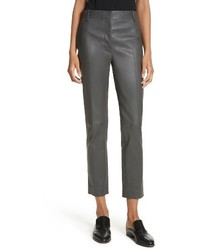 Joseph Stretch Zoom Leather Straight Leg Pants