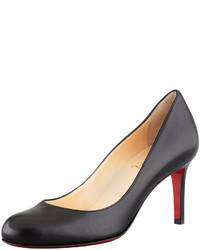 Christian Louboutin Simple Leather Red Sole Pump Black
