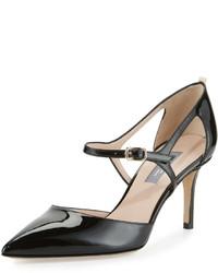 Sjp by phoebe patent mary jane pump black medium 524087