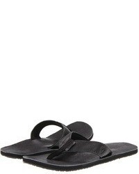 Charcoal Leather Sandals