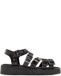 Underground Black Oakley Creeper Sandals