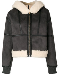 Stella McCartney Faux Leather Shearling Jacket