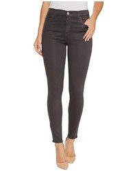 J Brand Alana High Rise Crop Skinny In Light Coated Chrome Jeans