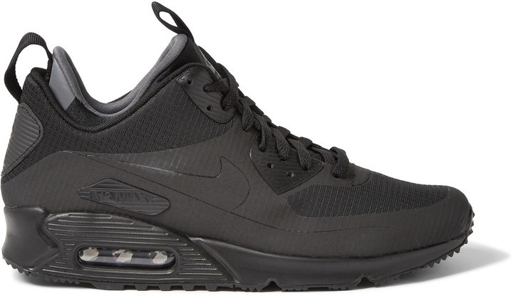 5166550118 Nike Air Max 90 Mid Winter Leather And Mesh Sneakers, $135 | MR ...