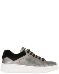 Momino Vintage Effect Nappa Leather Sneakers