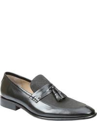 Giorgio Brutini 25004 Brown Kidskin Leathernatural Canvas Tassel Loafers
