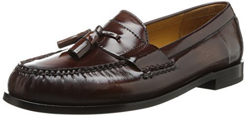 Pinch Tassel Loafer. Charcoal Leather Tassel Loafers by Cole Haan