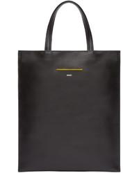 Black slim leather tote medium 589186