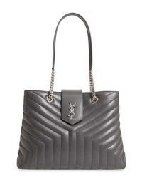 Saint Laurent Large Loulou Matelasse Leather Shopper