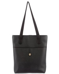 Mark Cross Leather Trimmed Herringbone Tote