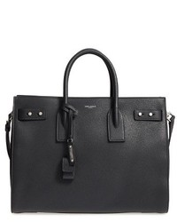 Saint Laurent Medium Sac De Jour Grained Leather Tote Grey
