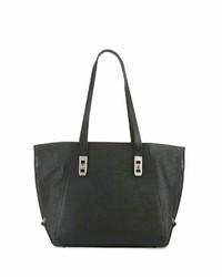 Charles Jourdan Pamela Embossed Leather Tote Bag Black