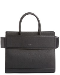 Small horizon grained calfskin leather tote black medium 951574