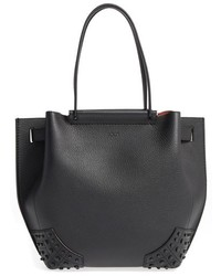 Tod's Small Wave Leather Tote Orange