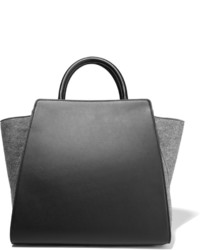 Zac Zac Posen Sold Out Eartha Felt Paneled Leather Tote