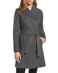 Jacqueline belted leather trench coat medium 4952668