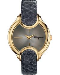 Salvatore Ferragamo 38mm Signature Watch W Leather Strap Gray
