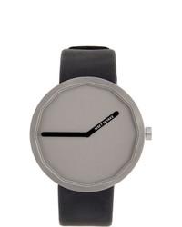 Issey Miyake Men Black And Taupe Naoto Fukasawa Edition Twelve Series P004y Watch