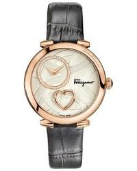 Salvatore Ferragamo Cuore Leather Strap Watch 39mm