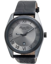 Kenneth Cole Modelcurrentbrandname New York Classic Roman Numeral Watch Croc Embossed Leather Band