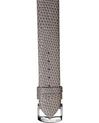 Philip Stein Teslar Philip Stein 18mm Lizard Embossed Leather Watch Strap Gray