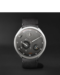 Ressence Type 2g Mechanical 45mm Titanium And Leather Watch With Smart Crown Technology