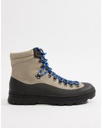 ASOS DESIGN Hiker Boots In Grey