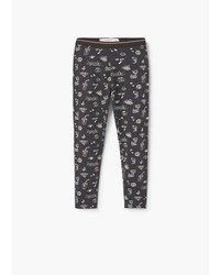 MANGO Kids Printed Cotton Leggings
