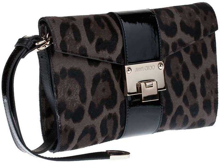 a8ce0664e71 ... Jimmy Choo Rivera S Leopard Print Clutch Bag ...