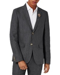 Topman Skinny Fit Linen Suit Jacket