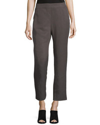 Eileen Fisher Tapered Linen Ankle Pants