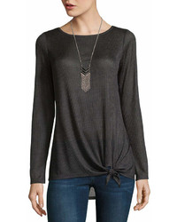 Alyx Long Sleeve Round Neck Knit Blouse