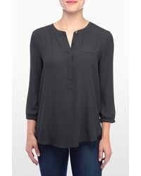 NYDJ Georgette 34 Blouse With Pleated Back