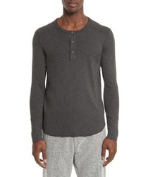 Charcoal Long Sleeve Henley Shirt