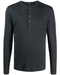 Theory Ribbed Long Sleeved T Shirt