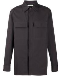 Bottega Veneta Contrasting Panels Long Sleeved Shirt