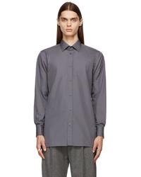 Maison Margiela Grey Cotton Poplin Shirt