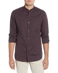 Selected Homme Mart Slim Fit Band Collar Button Up Shirt