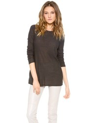 Alexander Wang T By Slub Classic Long Sleeve Tee