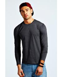 Boohoo Basic Long Sleeve Crew Neck T Shirt