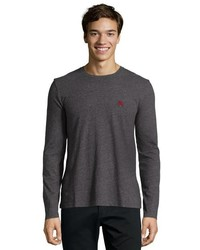 Burberry Brit Dark Grey Melange Jersey Knit Cotton Tee Shirt